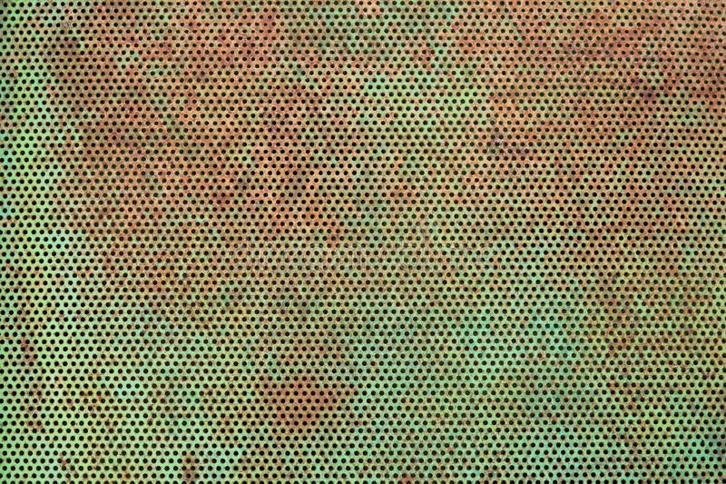 Green and rusty metal texture background. Rusty metal surface texture stock image
