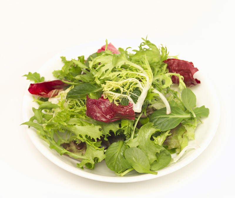 Green salad. A fresh green salad accompanying any great meal royalty free stock images