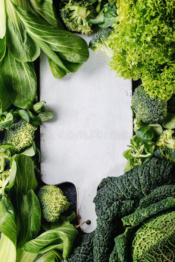 Green salads and cabbage royalty free stock photos