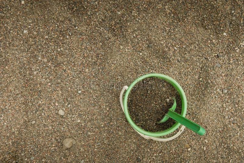 Download Green sand bucket stock image. Image of clean, sand, bucket - 8087755