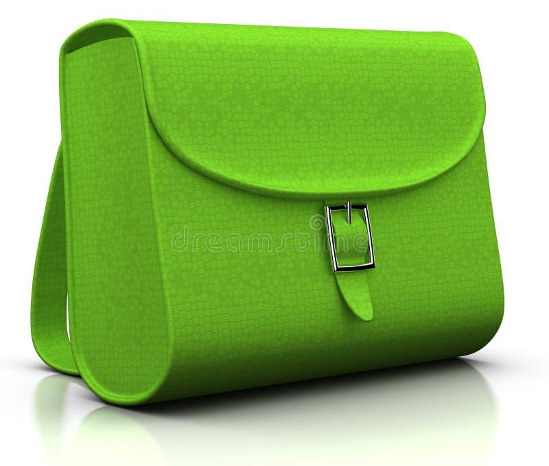Download Green satchel stock illustration. Image of satchel, colorful - 15682600