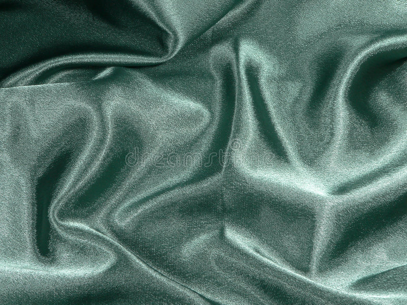 Green Satin stock photo