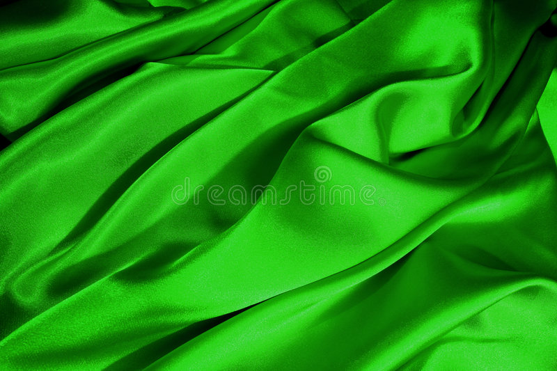 Download Green satin waves stock image. Image of colour, love, folds - 517789
