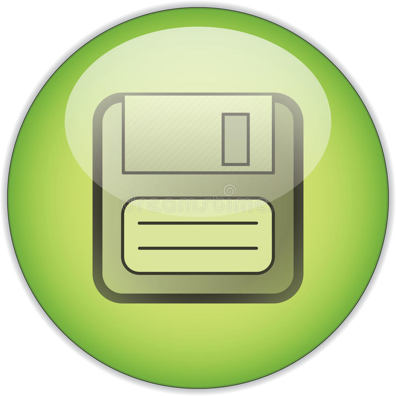 green save button stock illustration illustration of