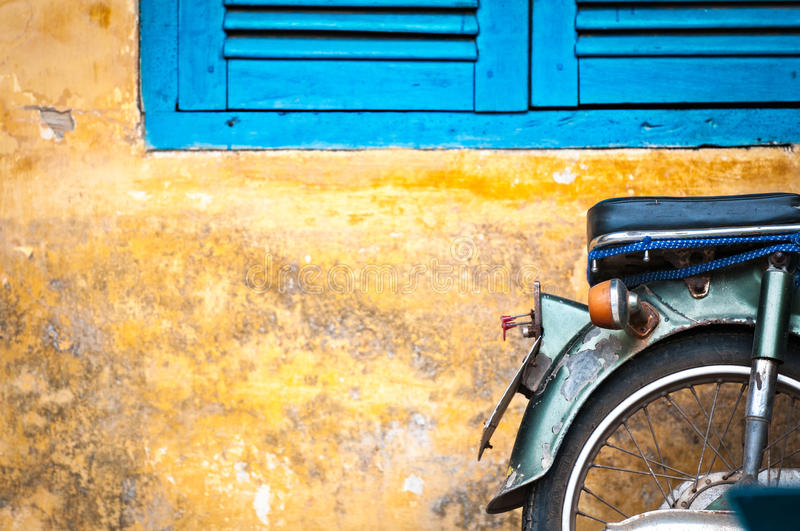 Download Scooter Parked At Old Building In Vietnam, Asia. Stock Image - Image of background, dirty: 29865827