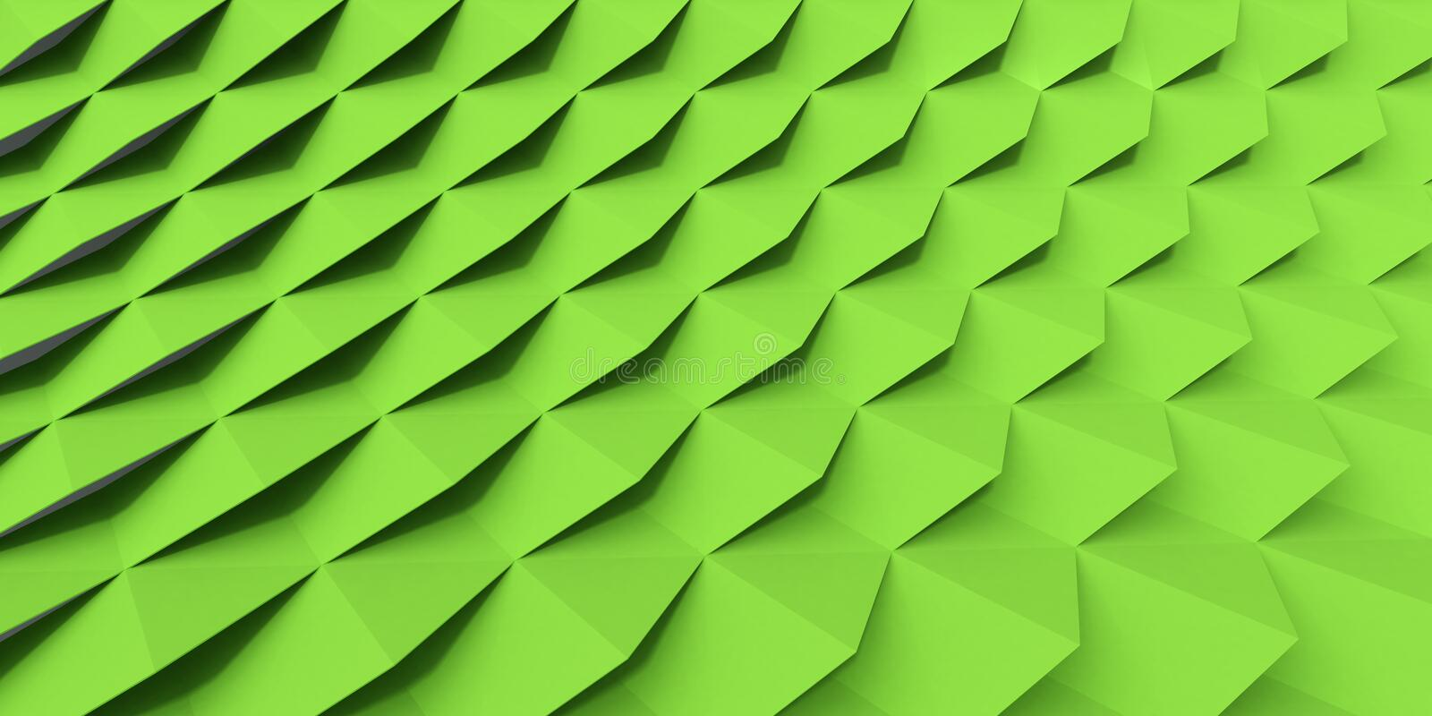 Green Screen. Lime Green Overlapping Shingle Screen stock illustration