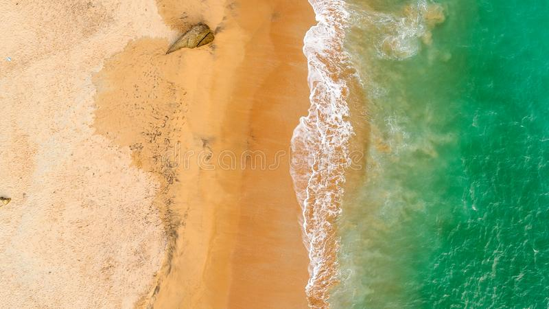 Green sea waves Arial View. Island Beautiful Green sea waves Arial View Muttam Beach Nagercoil city, Tamilnadu, india royalty free stock photos
