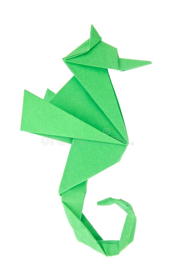 Green Seahorse Hippocampus Of Origami Stock Photo Image Of