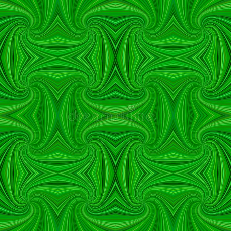 Green seamless abstract psychedelic spiral ray stripe pattern background royalty free illustration