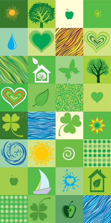 Green seamless pattern. royalty free illustration