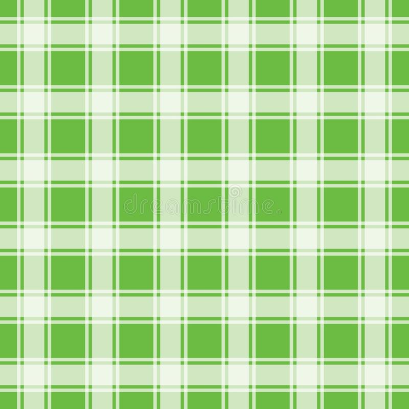 Green seamless pattern, gingham background stock photo