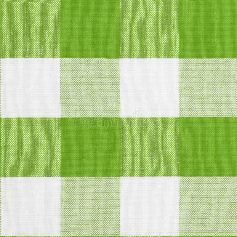 Green seamless pattern of gingham tablecloth royalty free stock photo
