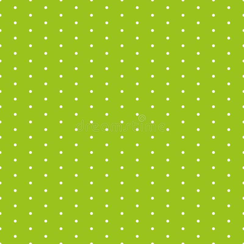 Green seamless pattern with polka dots.  stock illustration
