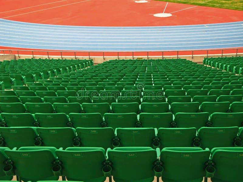 Green seats stock image