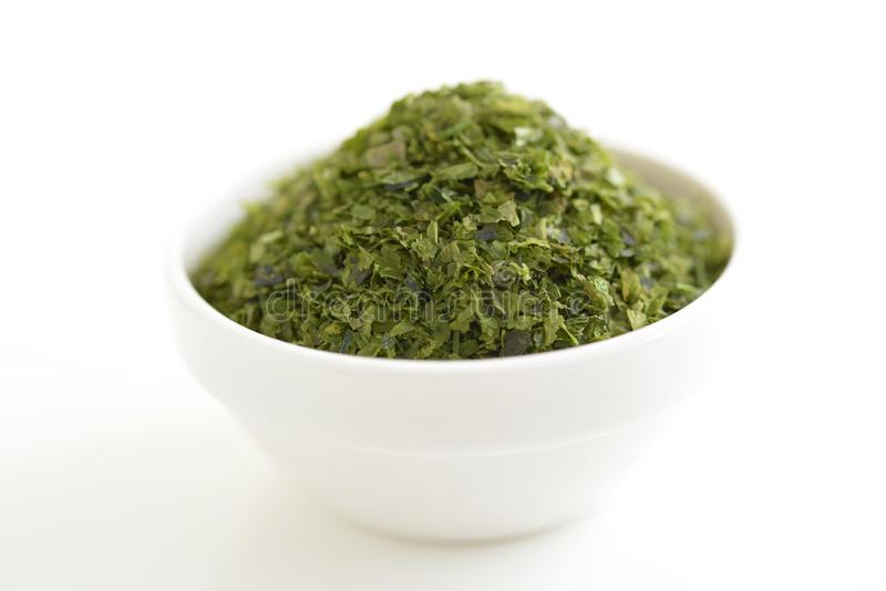 Green Seaweed Flake stock image