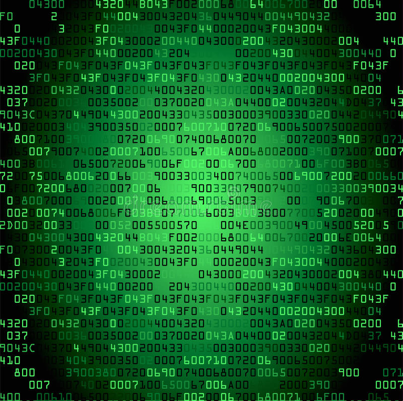 Green security background with HEX-code stock illustration