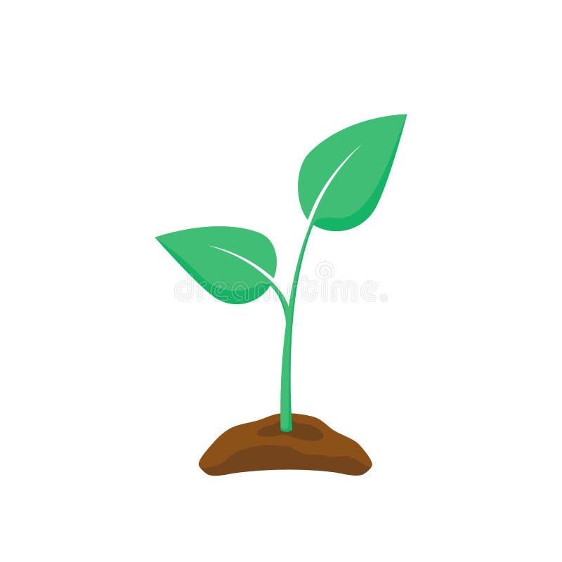 Free Green Seedling Silhouette. Plant Nurturing. Vector Illustration Stock Images - 125250434