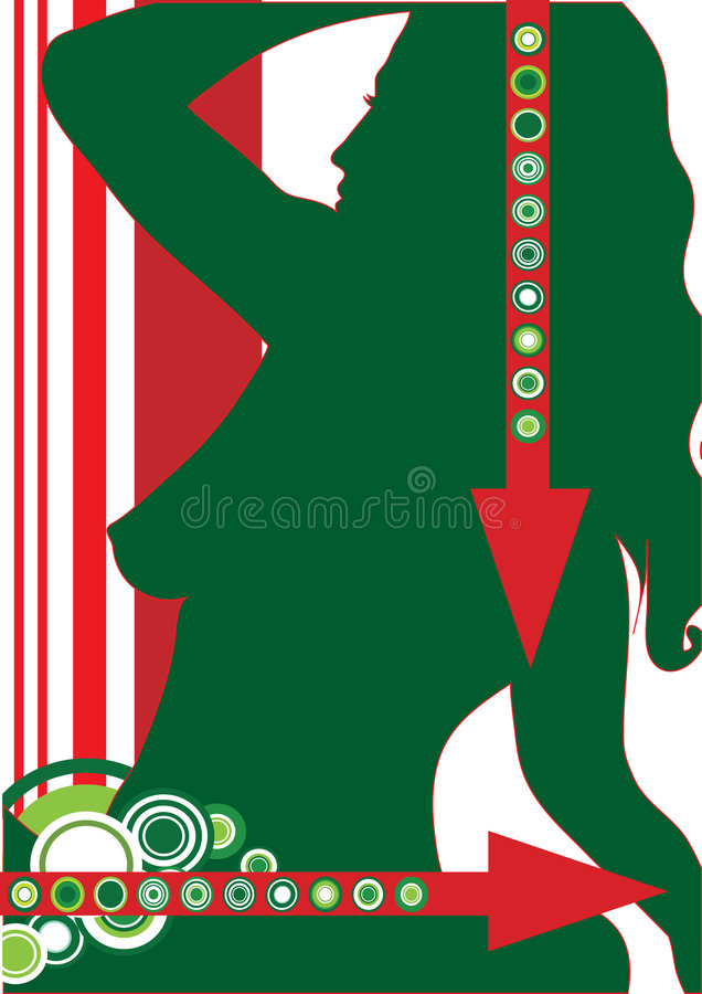 Green woman royalty free illustration