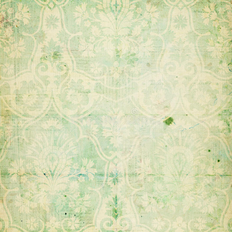 Free Green Shabby Chic Vintage Damask Texture Stock Photo - 20985930