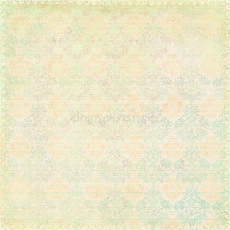 Free Green Shabby Chic Vintage Damask Texture Royalty Free Stock Photos - 21746868
