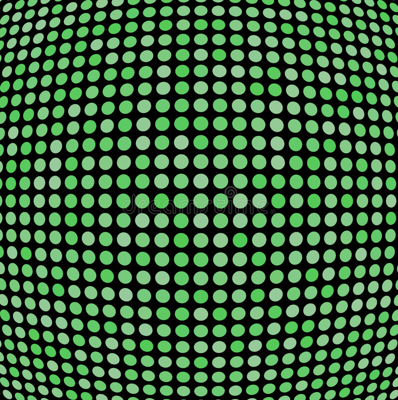 Green shaded dots vector illustration