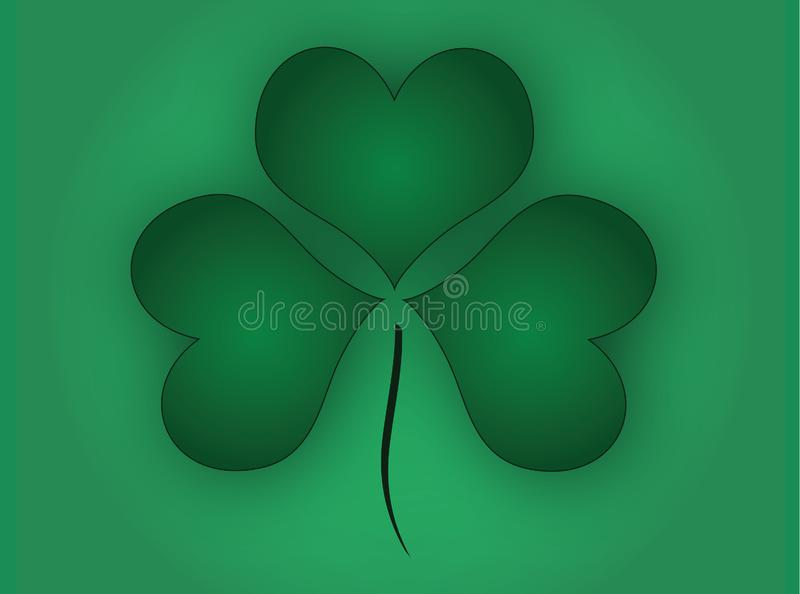 Green Shamrock Background royalty free stock photo