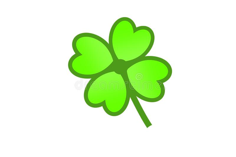 Green shamrock logo isolated on white background . Illustration design stock illustration