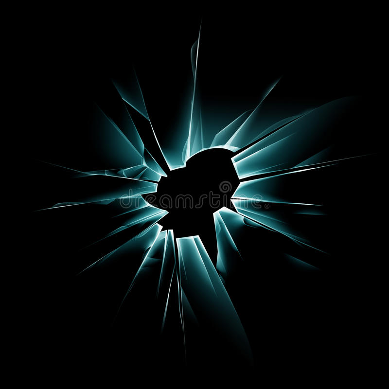 Download Green Shattered Glass Window With Bullet Holes Stock Image - Image of dark, crime: 79852329