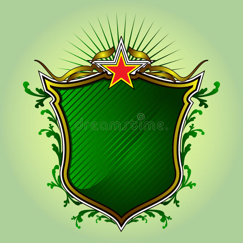 Green Shield stock photo