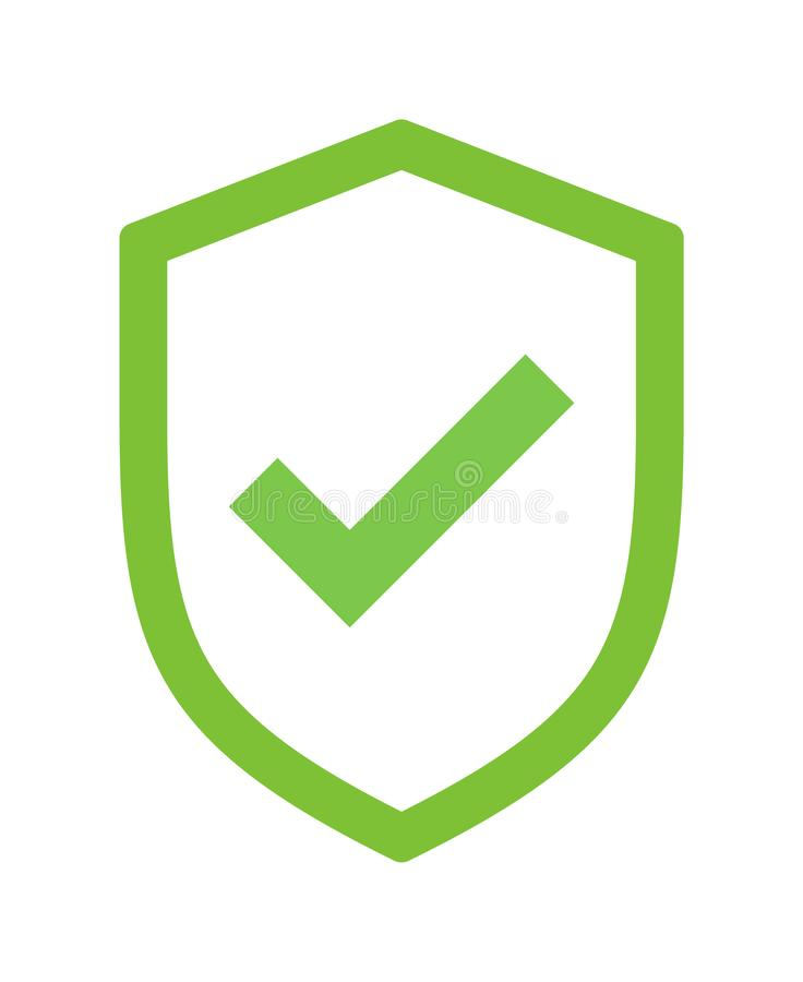 Free Green Shield Security Tick Icon Royalty Free Stock Images - 133480059