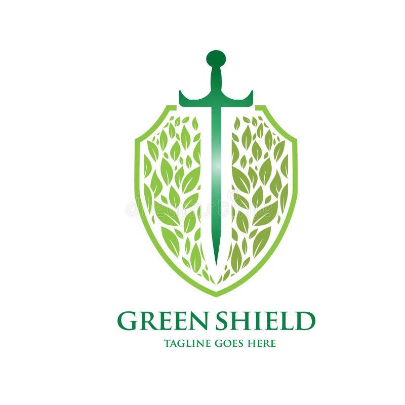 Green shield vector vector illustration