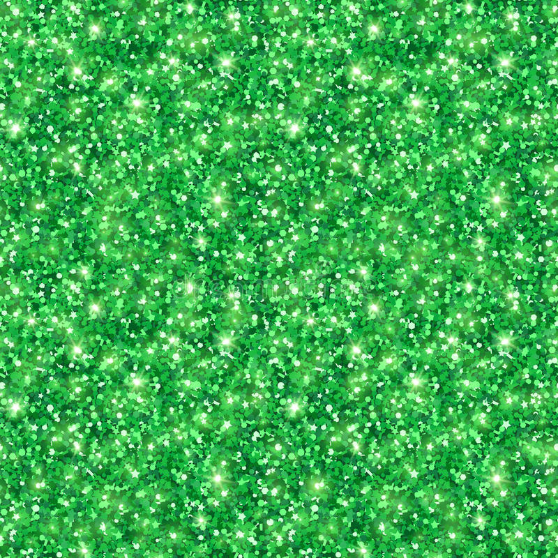 Green shining seamless pattern Patricks Day royalty free illustration
