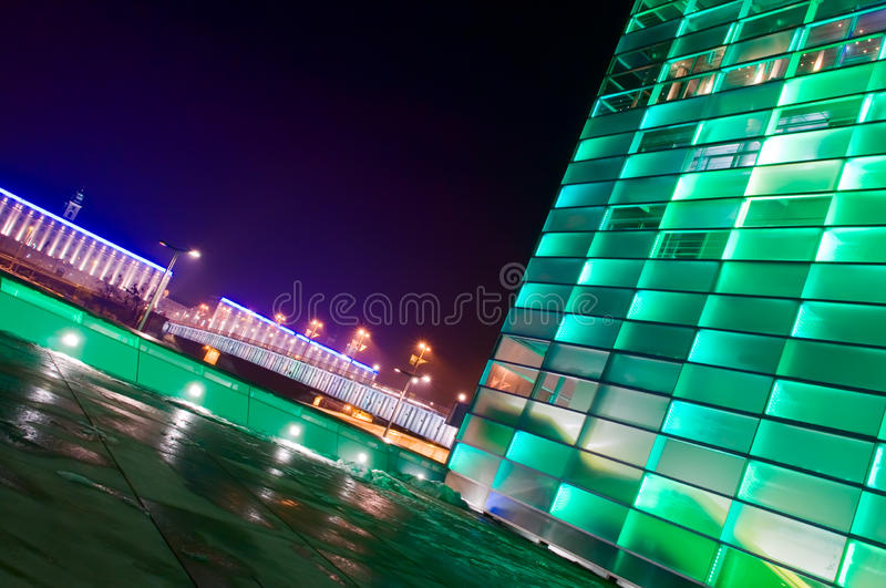 Green Shiny Building in Austria. Green shiny Building in Linz, Upper Austria royalty free stock images