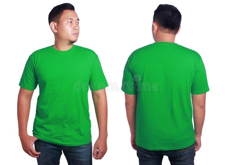 Green shirt mockup template stock photo image of green for Plain t shirt model