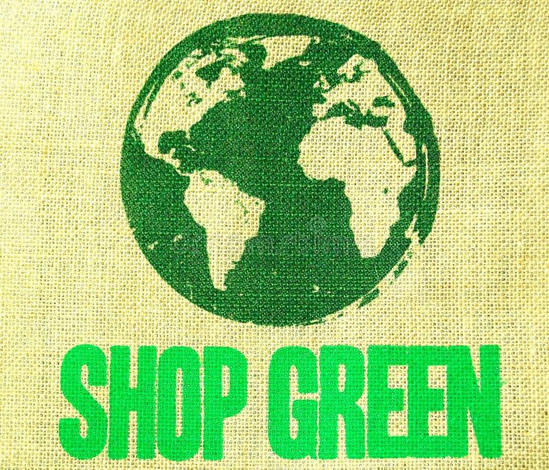 green shoppar fotografering för bildbyråer