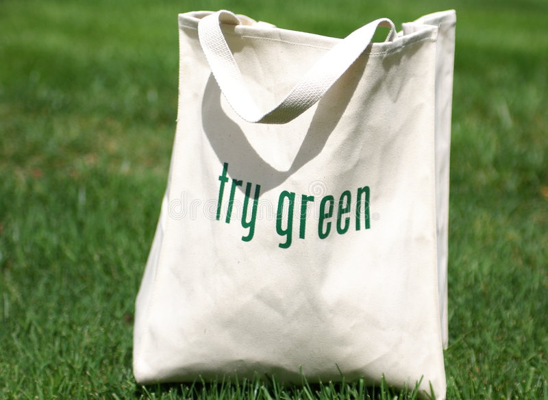 green shoppar try arkivbilder