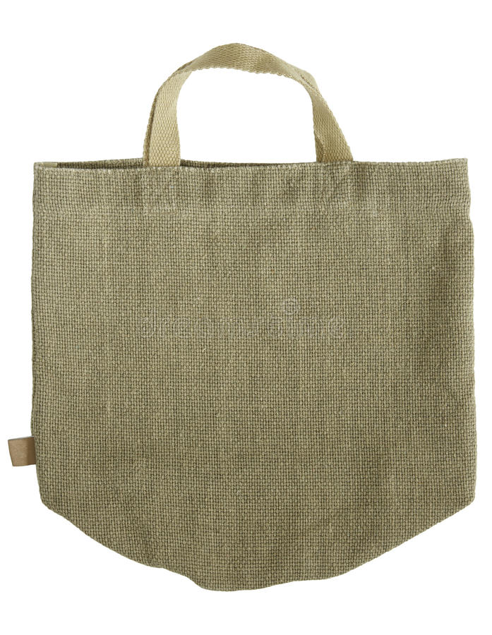 Download Green Shopping Fabric Bag On White Stock Image - Image: 21581215