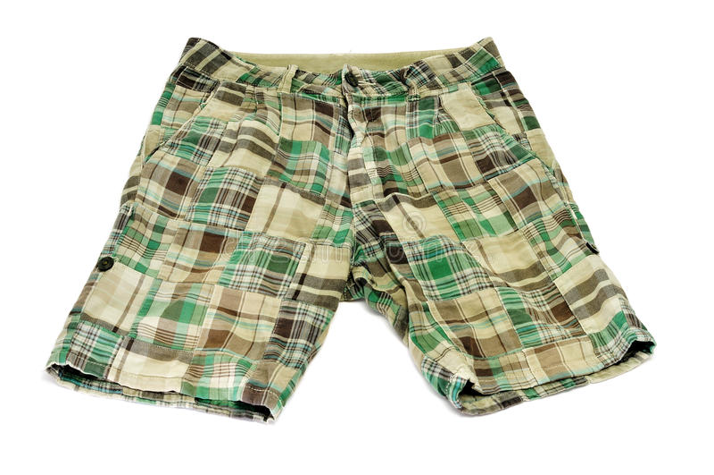 Green shorts stock photo