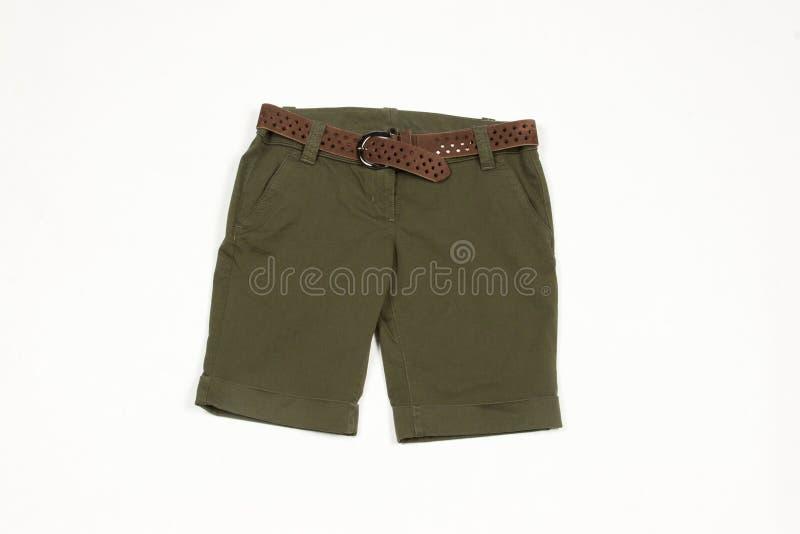 Green shorts stock image