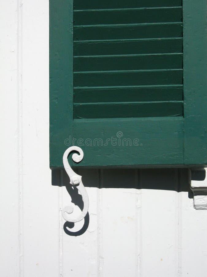 Green Shutter Stock Image