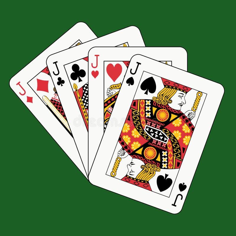 green silar poker stock illustrationer