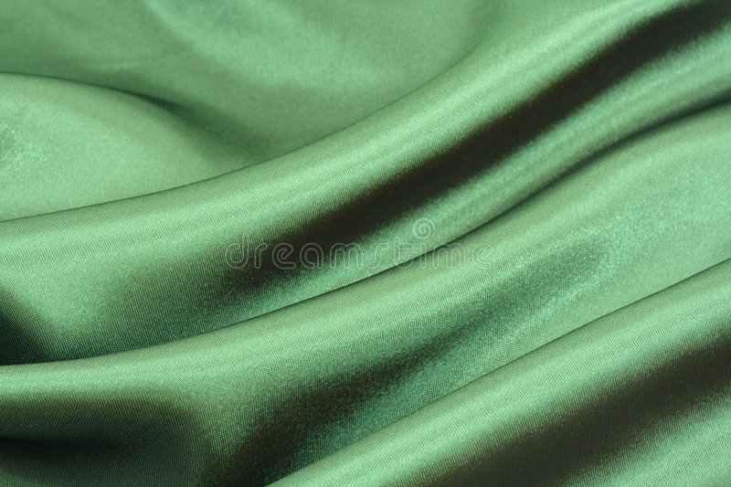 Green silk background royalty free stock image