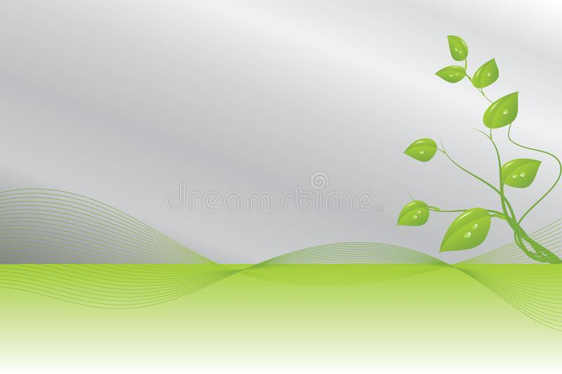Green and silver background royalty free stock image