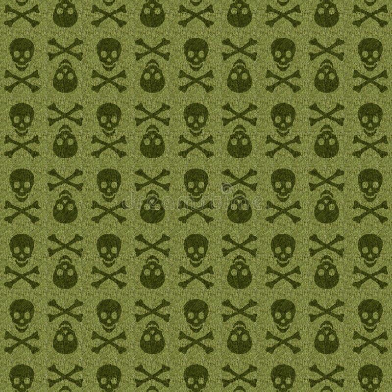 Green Skull stock images