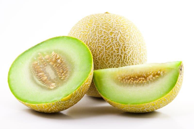 Green Sliced Cantaloupe royalty free stock photo