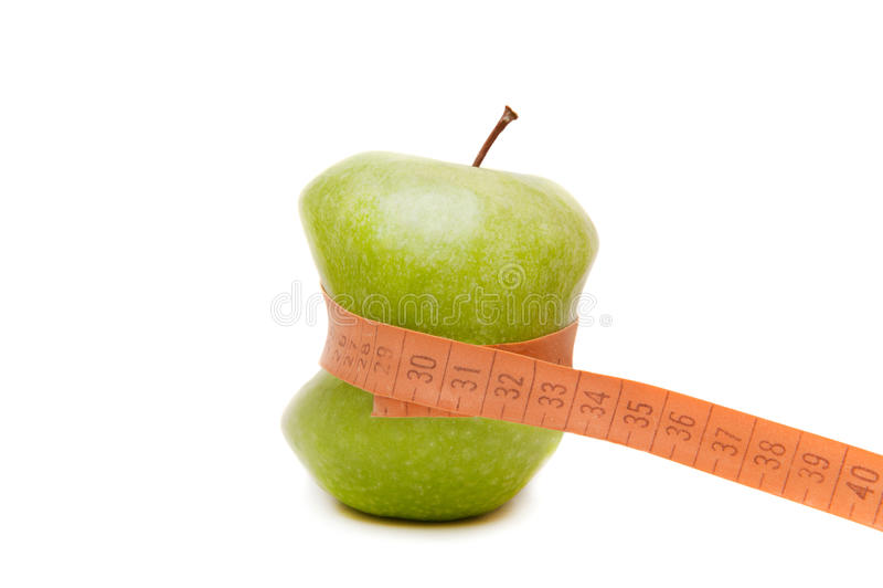 green slim apple stock photo