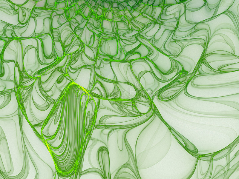 Green Slime. Oozing green slime. Very smooth and glossy royalty free illustration