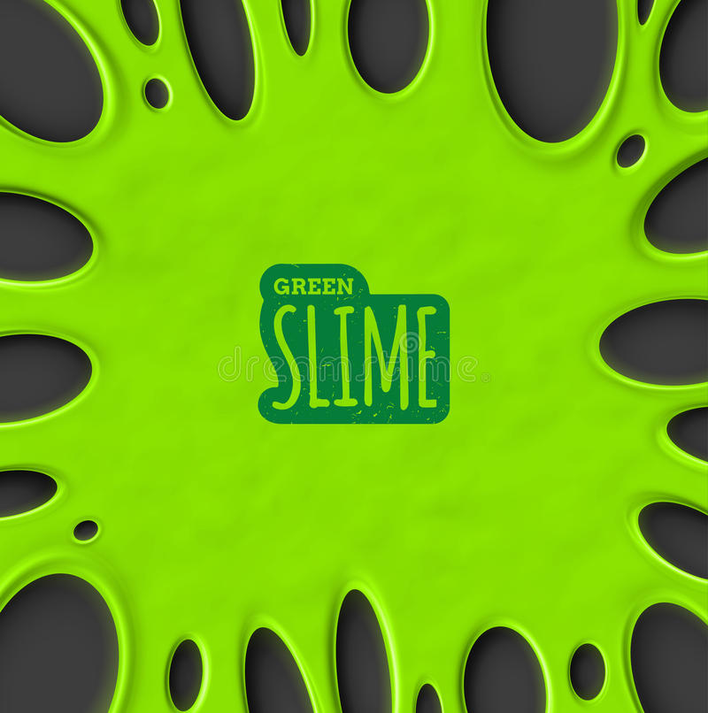 Green Slime royalty free illustration