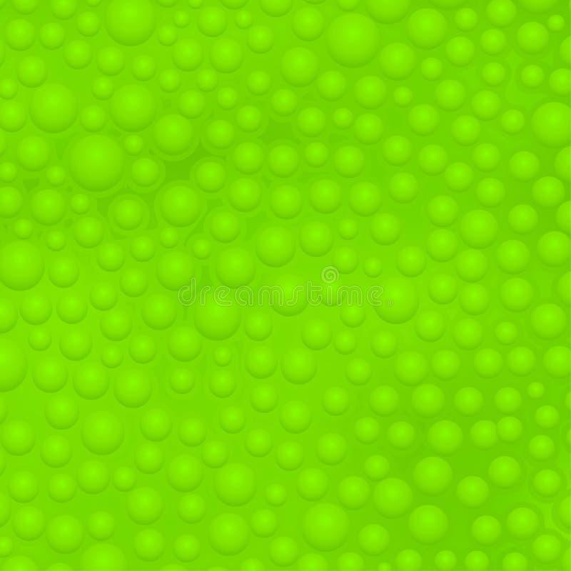 Green slime background. Illustration of green color slime with bubbles background stock illustration