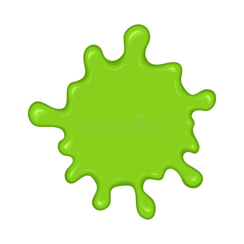 Green slime splash blot royalty free illustration